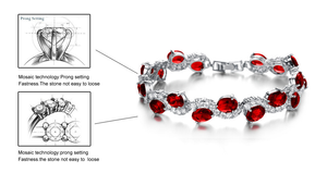 Red Garnet Exquisite Bracelet - Florence Scovel - 5