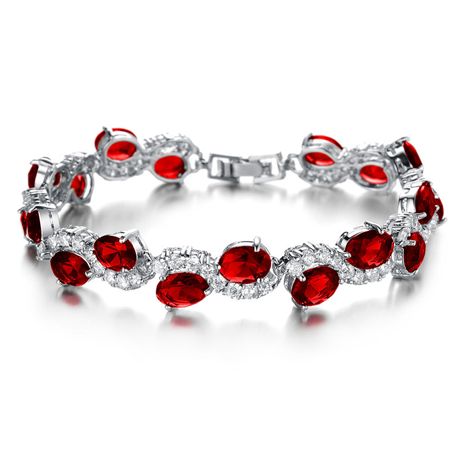 Red Garnet Exquisite Bracelet - Florence Scovel - 1