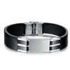 Genuine Leather Bold Men's Stainless Steel Bracelet - Florence Scovel - 1