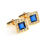 Gold Plated Gemstone Cufflink - Florence Scovel