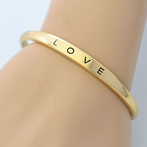 Gold Plated Love Bangle - Florence Scovel - 3