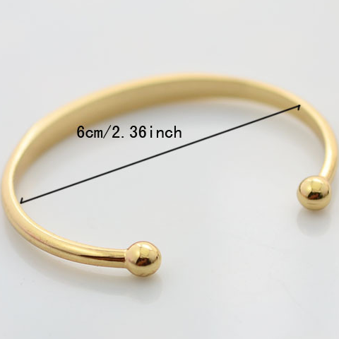 Gold Plated Love Bangle - Florence Scovel - 2