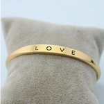 Gold Plated Love Bangle - Florence Scovel - 4