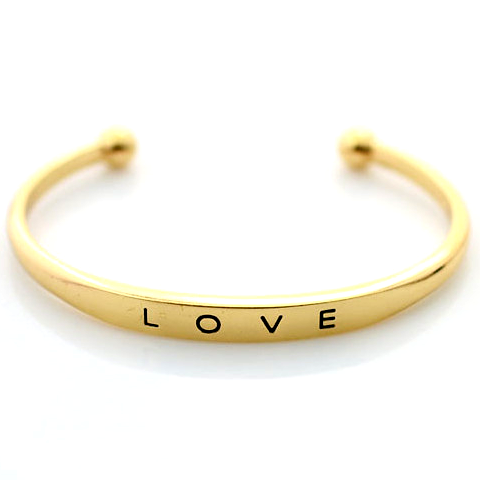 Gold Plated Love Bangle - Florence Scovel - 1