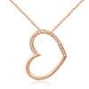 Gold Plated Horizontal Heart Pendant - Florence Scovel - 1