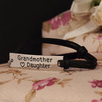 Grandmother Love Daughter Leather Strap Bracelet - Florence Scovel - 2