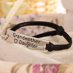 Grandmother Love Daughter Leather Strap Bracelet - Florence Scovel - 3