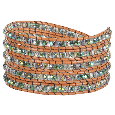 Green Crystal Wrap Bracelet - Florence Scovel - 1