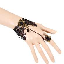 Midnight Lace Ring-to-Wrist Bracelet - Florence Scovel - 2