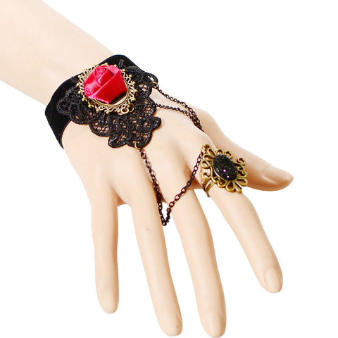 Deep Rose Ring-to-Wrist Bracelet - Florence Scovel - 1