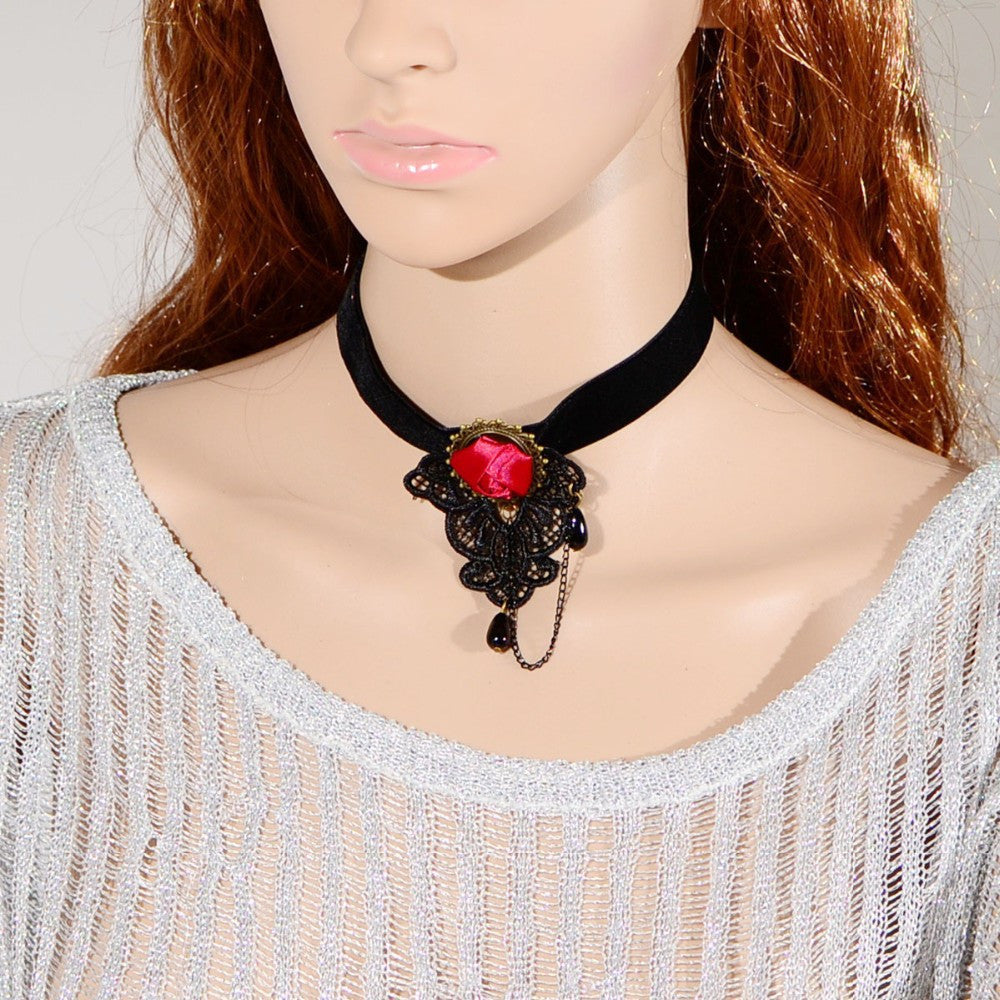 Deep Rose Choker - Florence Scovel - 1