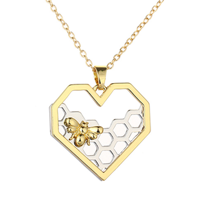 Heart Bee Necklace