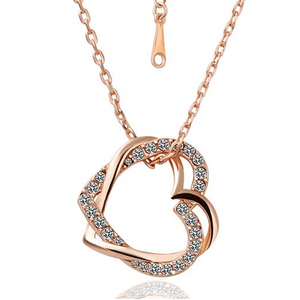 silver in diamond ct pendant sterling gold trio heart and double jewelry