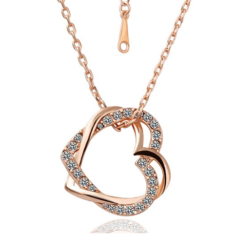 Crystal Double Heart Necklaces - Florence Scovel - 1