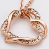Crystal Double Heart Necklaces - Florence Scovel - 2