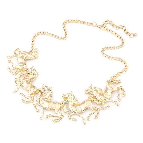 Horse Statement Necklace - Florence Scovel - 1
