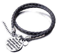The Love Between a Mother and Daughter is Forever - Hand Stamped Bracelet - Florence Scovel - 1