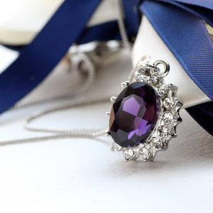 3 Carat Handcrafted Alexandrite Pendant with Silver Plated Chain - Florence Scovel - 5