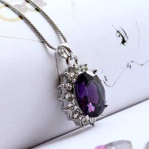 3 Carat Handcrafted Alexandrite Pendant with Silver Plated Chain - Florence Scovel - 6