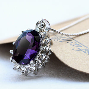 3 Carat Handcrafted Alexandrite Pendant with Silver Plated Chain - Florence Scovel - 4