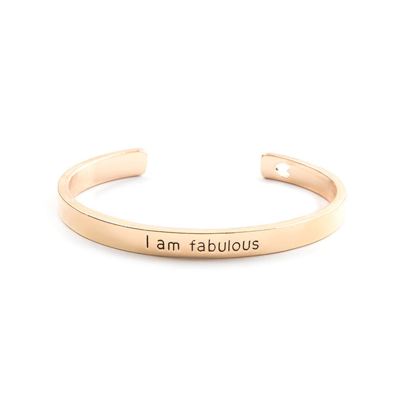 I am Fablous Cuff Bangle - Florence Scovel - 2