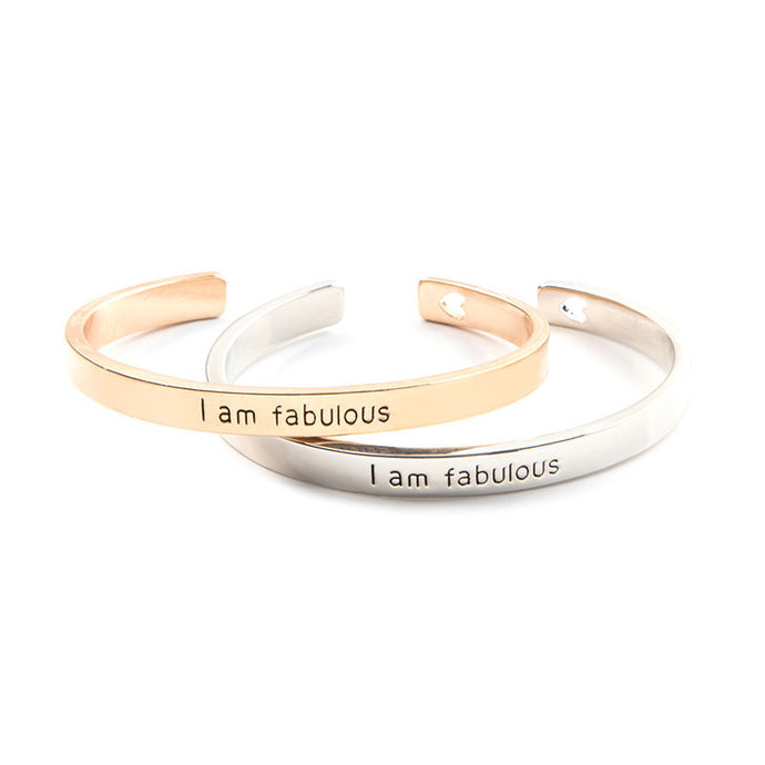 I am Fablous Cuff Bangle - Florence Scovel - 1