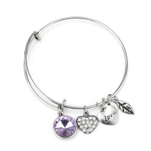 June Birthstone Charm Bangle - Florence Scovel - 2