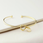 Tie The Knot Initial Bracelet
