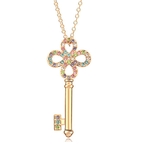 Key Florence Crystal Necklace - Florence Scovel - 1