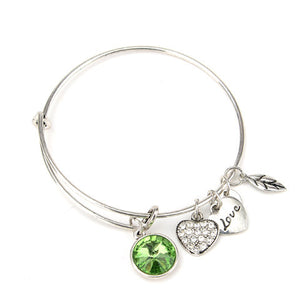 August Birthstone Charm Bangle - Florence Scovel - 2