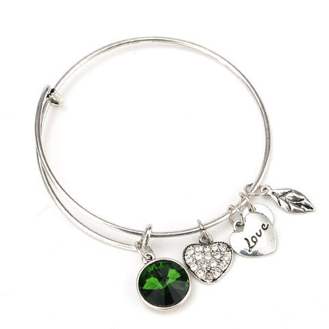 May Birthstone Charm Bangle - Florence Scovel - 2