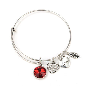 July Birthstone Charm Bangle - Florence Scovel - 2