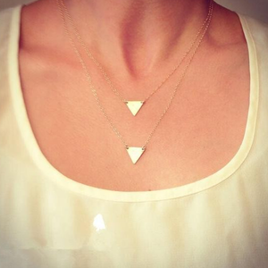 Double Layer Long Triangle Pendant - Florence Scovel - 1