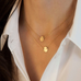 Double Layer Round Pendant Necklace - Florence Scovel - 1