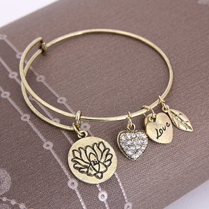 Lotus Love Charm Bangle - Florence Scovel - 5