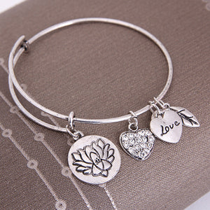 Lotus Love Charm Bangle - Florence Scovel - 4