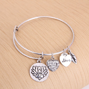 Lotus Love Charm Bangle - Florence Scovel - 3