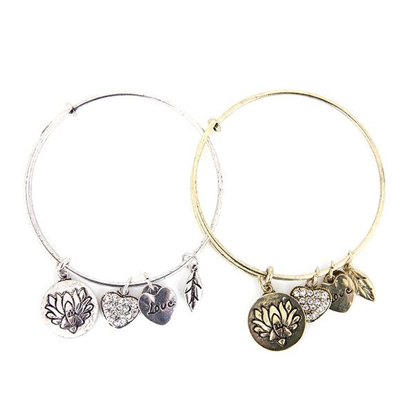 Lotus Love Charm Bangle - Florence Scovel - 1