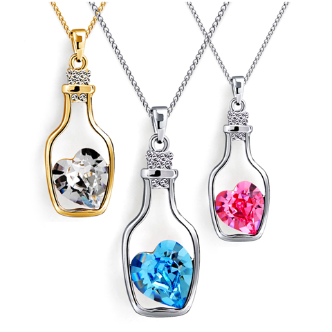 Love Bottle Gemstone Pendant Necklace - Florence Scovel - 1