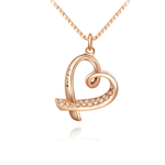 Love Engraved Heart with Crystal - Florence Scovel