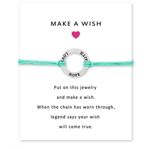 Make A Wish Bracelet - Show Your Support Breast Cancer Awareness Jewelry