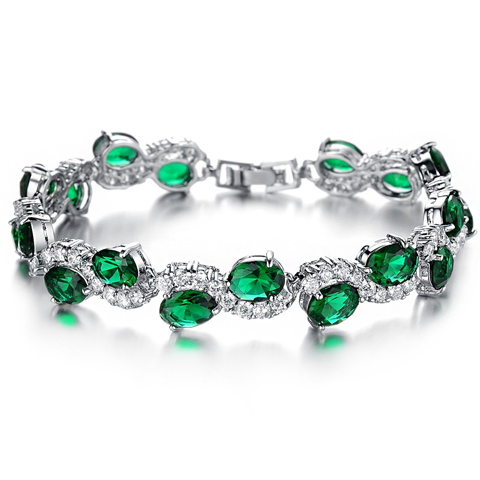 Green Emerald Exquisite Bracelet - Florence Scovel - 1