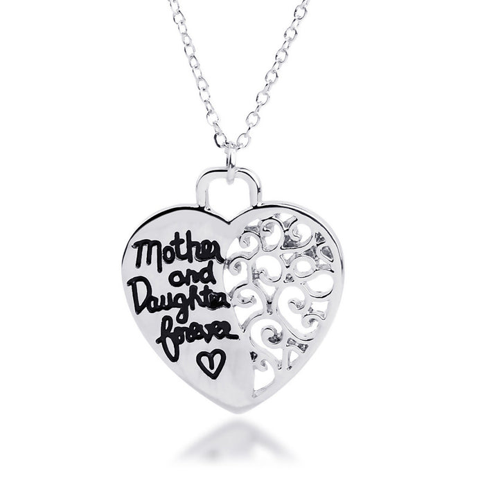 Mother Daughter Forever Heart Necklace - Florence Scovel - 1