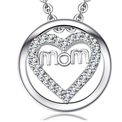 MOM HEART PENDANT - $12.00 (Re...