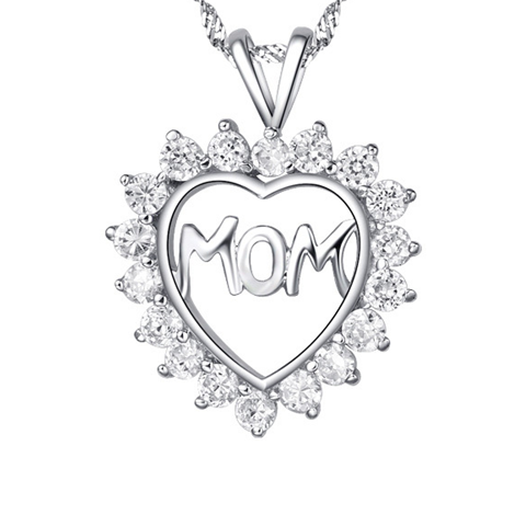 Mom's CZ Heart Pendant - Florence Scovel - 1