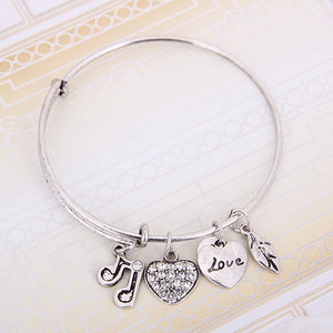 Music Note Charm Bangle - Florence Scovel - 4