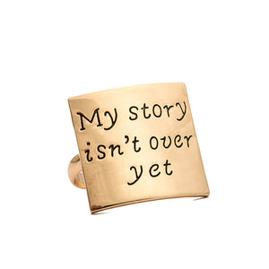 My Story Isn't Over Yet Adjustable Ring - Florence Scovel - 1