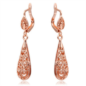0820ff22b Rose Gold Plated Water Drop Earrings - Florence Scovel - 4