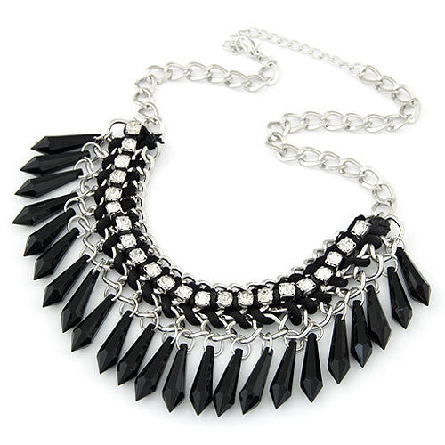 Fringe Drop Statement Necklace - Florence Scovel - 1