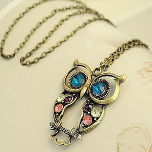Blue Eyes Owl Pendant - Florence Scovel - 1